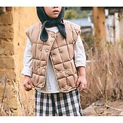 tanie Odzież dla chłopców-Dzieci Dla chłopców Solidne kolory Bez rękawów Kamizelka