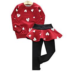 billige Tøjsæt til piger-Børn Pige Geometrisk / Farveblok Langærmet Tøjsæt