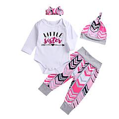 billige Babytøj-Baby Pige Geometrisk Langærmet Tøjsæt