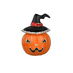 billige Motebrosjer-Dame Krystall / Kubisk Zirkonium Vintage Stil Nåler - Blomster Tema, Kreativ Personalisert, Vintage, Tegneserie Brosje Oransje Til Halloween / Aftenselskap / Karneval