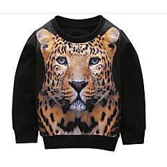 billige Overdele til drenge-Børn Drenge Tiger Ensfarvet / Farveblok Langærmet Bluse