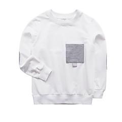 billige Overdele til drenge-Børn Drenge Ensfarvet Langærmet T-shirt