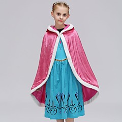 billige Jakker og frakker til piger-Børn Pige Vintage / Basale Daglig / Ferie Ensfarvet Uden ærmer Polyester Trenchcoat Blå 110