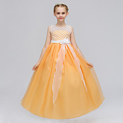 tanie Odzież dla dziewczynek-Dzieci Dla dziewczynek Patchwork Bez rękawów Sukienka