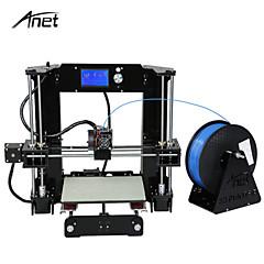 baratos Impressoras 3D-Anet a6 alta precisão tamanho grande desktop kits de impressora 3d reprap i3 diy tela de montagem auto lcd com cartão sd