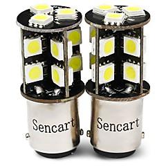 billige Baklys til bil-SENCART 2pcs T20 (7440,7443) / BA15s (1156) / BAY15D (1157) Motorsykkel / Bil Elpærer 4 W SMD 5050 380 lm 19 LED Blinklys / Arbeidslampe / Motorsykkel Til