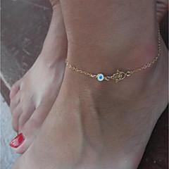 baratos Bijoux de Corps-Clássico tornozeleira - Olhos Na moda, Fashion Dourado Para Rua Feriado Mulheres