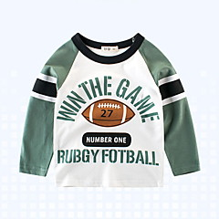 billige Overdele til drenge-Børn / Baby Drenge Trykt mønster / Farveblok Langærmet T-shirt