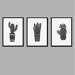 billige Innrammet kunst-Trykk Strukket Lerret Trykk - Halloween Moderne Moderne Tre Paneler