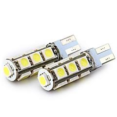 billige Baklys til bil-SENCART 4stk T10 / BA9S Motorsykkel / Bil Elpærer 2.5 W SMD 5050 160 lm 13 LED Blinklys / Baklys / interiør Lights Til