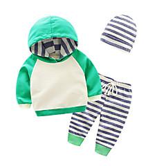 billige Sett med babyklær-Baby Pige Stribet / Farveblok Langærmet Tøjsæt