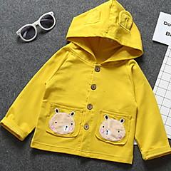billige Overtøj til babyer-Baby Pige Trykt mønster Langærmet Jakkesæt og blazer