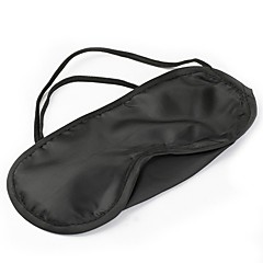 cheap Home Decor-Pure Silk Sleep Eye Mask Padded Black Shade Cover Travel Relax Aid
