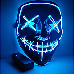 tanie Kaski i maski-maska halloween maska motocyklowa podświetlana impreza maska jasne rok wyborczy świetna zabawna maska festiwalowa cosplay costume supplies glow in the dark