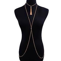 baratos Bijoux de Corps-Cadeia corpo / Cadeia de barriga Férias, Tropical, Formais Mulheres Dourado Bijuteria de Corpo Para Bandagem / Bikini