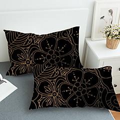 billiga Lakanset och örngott-Örngott - Polyester / Bomull Blandning Reaktiv Tryck Geometrisk 2st Örngott