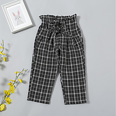 billige Babyunderdele-baby piger 'street chic / basic ferie plaid bomuld bukser