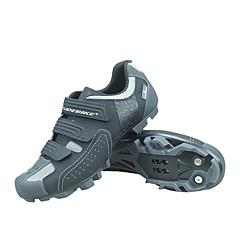 billige Sykkelsko-SIDEBIKE Voksne Mountain Bike-sko Pustende, Anti-Skli, Demping Sykling / Sykkel / Sykling Grå Herre Sykkelsko / Ventilasjon / Ventilasjon / Krok og øye