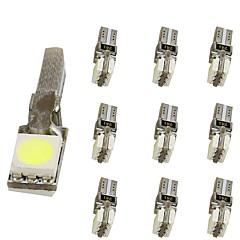 billige Interiørlamper til bil-10pcs T5 Motorsykkel / Bil Elpærer 1 W SMD 5050 30 lm 2 LED interiør Lights Til Universell Universell Universell