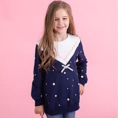 billige Hættetrøjer og sweatshirts til piger-Børn Pige Prikker Langærmet Hættetrøje og sweatshirt