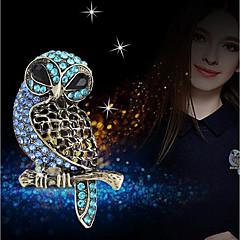 billige Motebrosjer-Dame 3D Nåler - Ugle Stilfull, Unikt design Brosje Blå Til Daglig