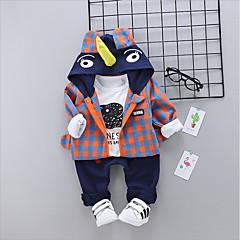 billige Sett med babyklær-Baby Pige Ensfarvet / Farveblok Langærmet Tøjsæt