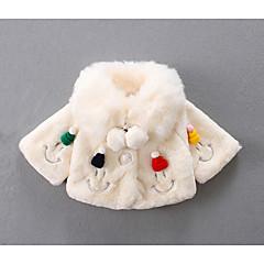 billige Babyoverdele-Baby Pige Basale Geometrisk Langærmet Bomuld Bluse Hvid