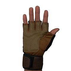 baratos Luvas de Motociclista-Meio dedo Homens Motos luvas Tecido Oxford / Microfibra / Mistura de Material Respirável / Anti-desgaste / Resistente ao Choque