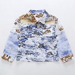 tanie Odzież dla chłopców-Brzdąc Dla chłopców Kolorowy blok Długi rękaw Koszula