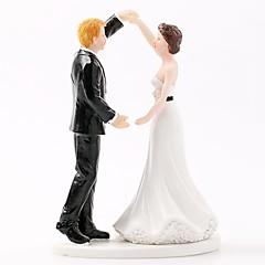 billige Kakedekorasjoner-Kakepynt Strand Tema / Hage Tema / Klassisk Tema Klassisk Par ABS Resin Bryllup / Spesiell Leilighet med Solid 1 pcs Gaveeske
