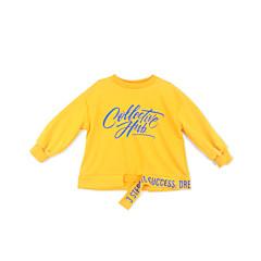 tanie Odzież dla dziewczynek-Dzieci Dla dziewczynek Podstawowy Codzienny Geometric Shape Nadruk Długi rękaw Regularny Bawełna Bluzka Złoty