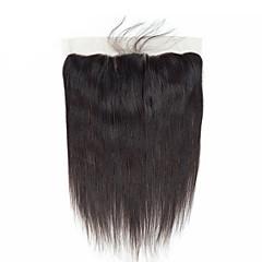 billiga Peruker och hårförlängning-Brasilianskt hår / Burmesiskt hår 4x13 Stängning Rak Fria delen / Mittparti / 3 Del Koreansk spets Äkta hår Dam / Bästa kvalitet / Heta Försäljning Dagliga kläder