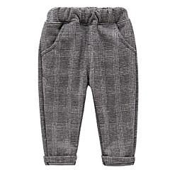 tanie Odzież dla dziewczynek-Brzdąc Dla dziewczynek Kratka Spodnie