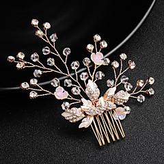 abordables Coiffes-Imitation de perle / Alliage Peignes avec Cristal / strass 1 Pièce Mariage / Occasion spéciale Casque