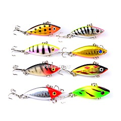cheap Fishing Lures & Flies-8 pcs Fishing Lures Hard Bait Plastic Outdoor Bait Casting / Lure Fishing / General Fishing