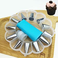 billige Bakeredskap-Bakeware verktøy Rustfritt Stål Kake For kjøkkenutstyr Dessert dekoratører Dessertverktøy 14pcs