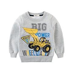 billige Hættetrøjer og sweatshirts til drenge-Børn Drenge Sort og hvid Trykt mønster Langærmet Hættetrøje og sweatshirt