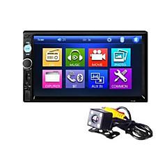 hesapli Araba Elektronikler-Arka görüş makinesi 7010b ile 7 inç bluetooth v2.0 araba sesli araç dvd mp5 çalar