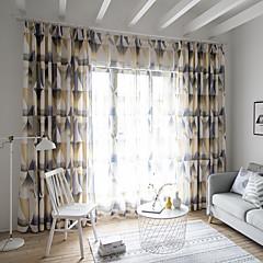 tanie Akcesoria okienne-zasłony zasłony Dwa panele Niestandardowy rozmiar Kawowy / Sypialnia