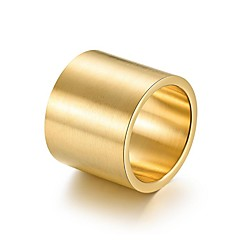 cheap Men's Rings-Men's Classic Band Ring - Titanium Steel Simple Jewelry Gold For Going out Club 10 / 11 / 12