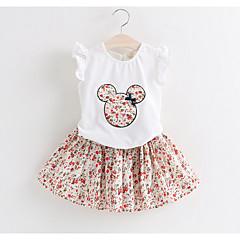 billige Tøjsæt til piger-Børn Pige Basale Ensfarvet Langærmet Normal Normal Bomuld / Polyester Tøjsæt Lyserød 100