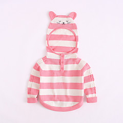 billige Sweaters og cardigans til babyer-Baby Pige Vintage / Aktiv Ensfarvet Langærmet Akryl / Polyester Trøje og cardigan Blå