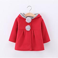 tanie Odzież dla dziewczynek-Brzdąc Dla dziewczynek Solidne kolory Długi rękaw Garnitur / marynarka