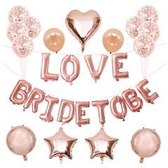 billige Bryllupsdekorasjoner-Ballong Aluminiumfolie 1set Bryllup