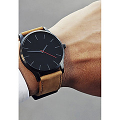 cheap Dress Classic Watches-Men's Dress Watch Wrist Watch Quartz Leather Black / Brown 30 m New Design Casual Watch Cool Analog Classic Casual Fashion - Coffee Black / White White / Brown One Year Battery Life / Stainless Steel