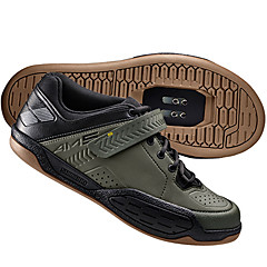 billige Sykkelsko-Mountain Bike-sko Nylon, Glassfiber, Luftstrømsventiler, Ikke-skli Tråd Demping, Ventilasjon, Anvendelig Sykling / Sykkel / Sykling Svart / Militærgrønn / Krok og øye