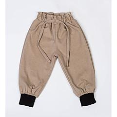 tanie Odzież dla chłopców-Brzdąc Dla chłopców Podstawowy Codzienny Solidne kolory Poliester Spodnie Czarny 130