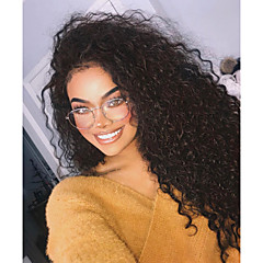 cheap Wigs & Hair Pieces-Synthetic Lace Front Wig Women's Curly / Loose Curl Black Layered Haircut / with Baby Hair Synthetic Hair 24 inch with Baby Hair / Adjustable / Natural Hairline Black Wig Long Lace Front Natural