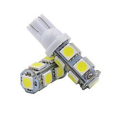 billige Interiørlamper til bil-2pcs T10 Motorsykkel / Bil Elpærer 2 W SMD 5050 120 lm 9 LED Blinklys / interiør Lights Til Universell Universell
