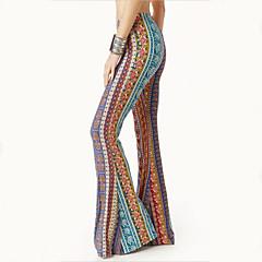 Hippi Disko Retro / Vintage 1960s Hippi 1970ler Disko Kostüm Kadın's Pantalonlar Desen Eski Tip Cosplay Pamuk Polyester